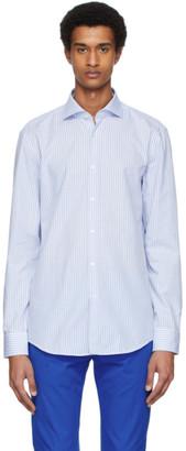 HUGO BOSS Blue and White Kason Shirt
