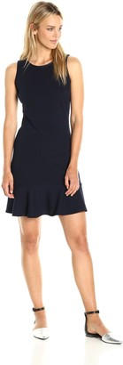 Paris Sunday Women's Sleeveless Flounce Hem Dress