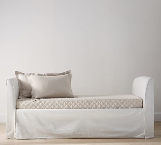 Pottery Barn Belgian Flax Linen Daybed Cover