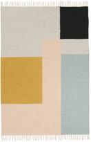 ferm LIVING Kelim Rug - Multicoloured Squares - 140x200 cm