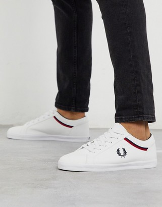 Fred Perry Baseline canvas sneakers in white