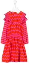 Stella McCartney zigzag striped ruffled dress