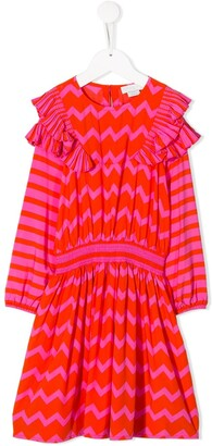 Stella McCartney zigzag striped ruffled dress