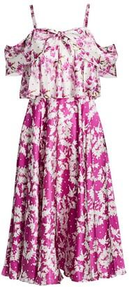 AMUR Off-The-Shoulder Popover Waist Dress