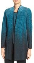 Ming Wang Women's Long Jacquard Knit Jacket