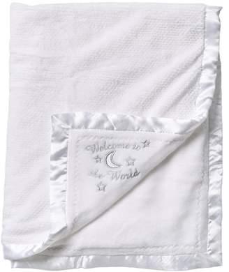 Little Me Welcome World Reversible Blanket