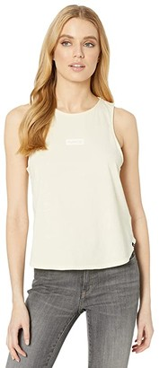 Hurley One and Only Box Flouncy Tank Top (Fossil) Women's Clothing