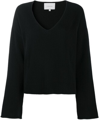 LA COLLECTION Oversized V-Neck Jumper