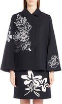Fendi Women's Floral Embroidered Wool & Silk Cape