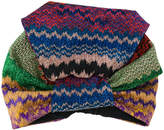 Missoni knit turban hat
