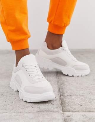 Simmi Shoes Simmi London Max white chunky trainers