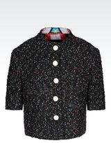 Emporio Armani Jacket In Multi-Colored Bouclé