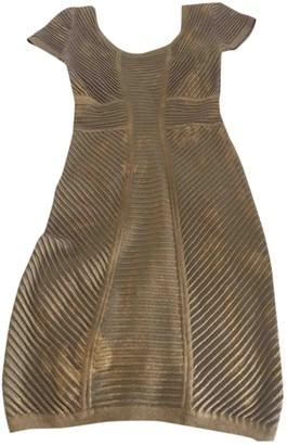 Faith Connexion Gold Viscose Dresses
