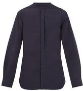Lemaire Stand-collar cotton-poplin shirt