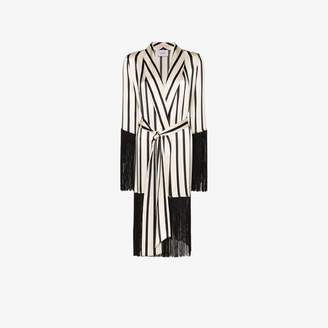 Leone We Are striped fringed silk robe