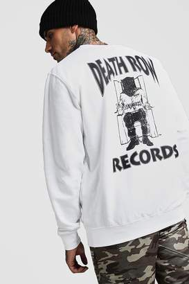 boohoo Death Row Records License Sweatshirt