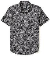 John Varvatos Abstract Camo Short-Sleeve Woven Shirt