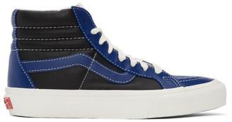 Vans Blue and Black Sk8-Hi Reissue VI Sneakers