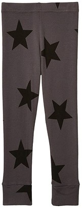 Nununu Star Leggings (Infant/Toddler/Little Kids) (Iron) Girl's Casual Pants