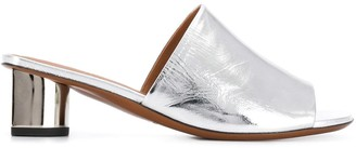Clergerie Metallic Low-Heel Mules