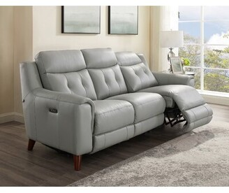 Tortuga Wrought Studio Leather Reclining Sofa Wrought Studio