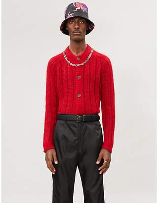 Prada Crewneck mohair-blend cardigan