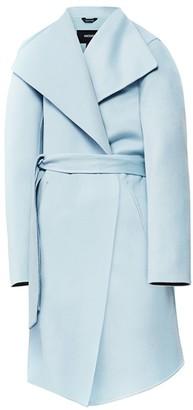 Mackage Laila Leather-Trim Wool Coat