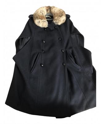 BA&SH Fall Winter 2019 Blue Wool Coats