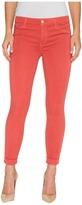 J Brand Anja Mid-Rise Cuffed Crop in Roseate Women's Jeans