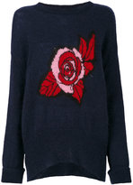 Markus Lupfer Erin oversized rose sweater - women - Polyamide/Mohair/Wool - XS
