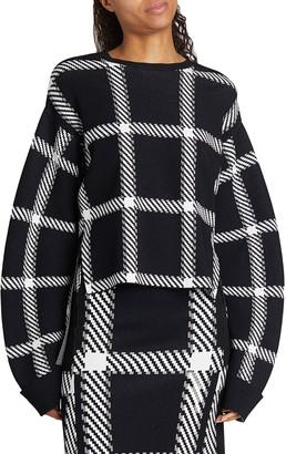 Stella McCartney Clean Lumberjack Buffalo Check Sweater