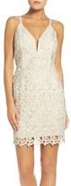 Greylin Women's Olivia Metallic Lace Sheath Dress