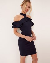 Girls On Film Cold Shoulder Ruffle Detail Bodycon