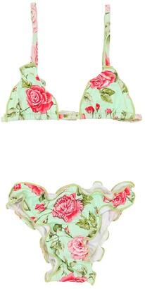 Selini Action Rose Print Lycra Bikini