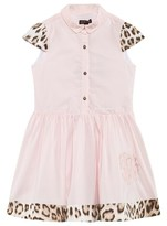 Roberto Cavalli Pale Pink and Leopard Shirt Dress
