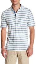 Faherty Short Sleeve Stripe Polo