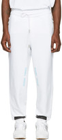 White Diagonal Brushed Lounge Pants