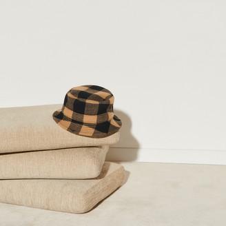 Sandro Checked bucket hat