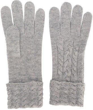 N.Peal Cable-Knit Gloves