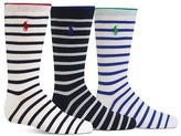 Ralph Lauren Boys' Nautical Striped Socks, 3 Pack - Sizes 2-11