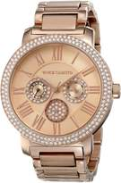 Vince Camuto Women's VC/5000RGRG Swarovski Crystal-Accented Multi-Function Bracelet Watch