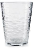 Martha Stewart Collection Textured Clear Acrylic Old Fashioned Glass