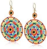 Miguel Ases Peridot-Color Synthetic Quartz and Onyx Kaleidoscope Earrings