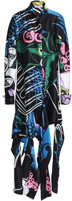 J.W.Anderson Floral-print Cotton And Silk-blend Mini Shirt Dress