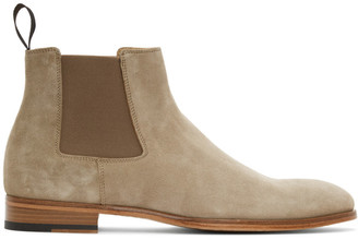 Paul Smith Beige Suede Crown Chelsea Boots