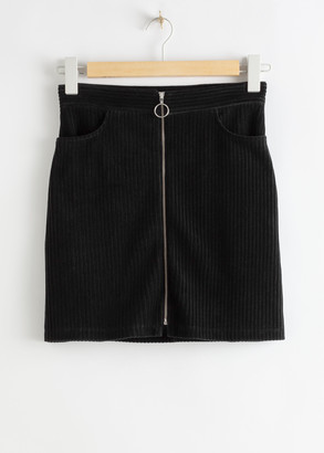 And other stories Corduroy O-Ring Zip Mini Skirt