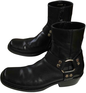 Balenciaga Santiag Harness Black Leather Boots