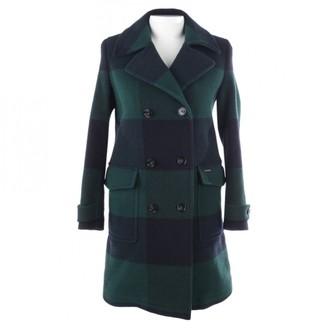 Woolrich Green Wool Coat for Women