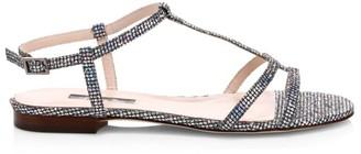 Sarah Jessica Parker Honoree Flat Crystal-Embellished Sandals