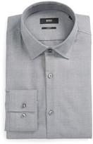 BOSS Men's Jenno Slim Fit Plaid Dress Shirt